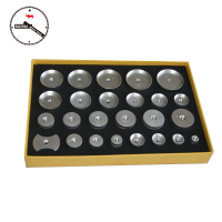 25 pcs/set Assort Size Aluminum Alloy Watch Press Dies,Watch Press Tools Accessories Aluminum Dies