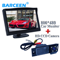 """Sensor de imagem CCD car câmera de estacionamento auto fio trazer 4 led com 5 """"monitor de estacionamento 2 em 1 apto para Hyundai IX35 2014"""