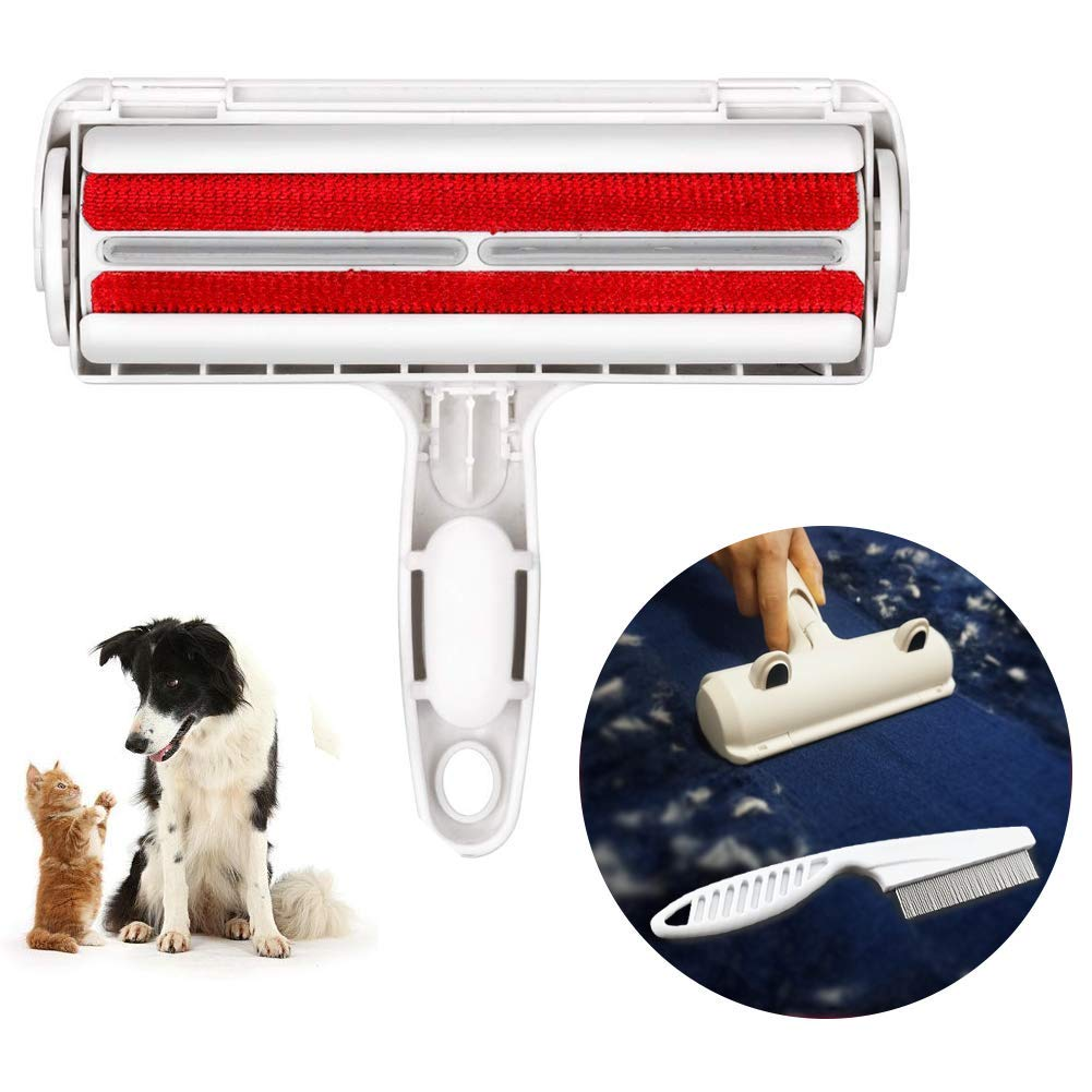 Pet Hair Remover Roller Dog Cat Hair Cleaning Brush Removing Dog Cat Hair from Furniture Carpets Clothing self-cleaning Lint portable media player