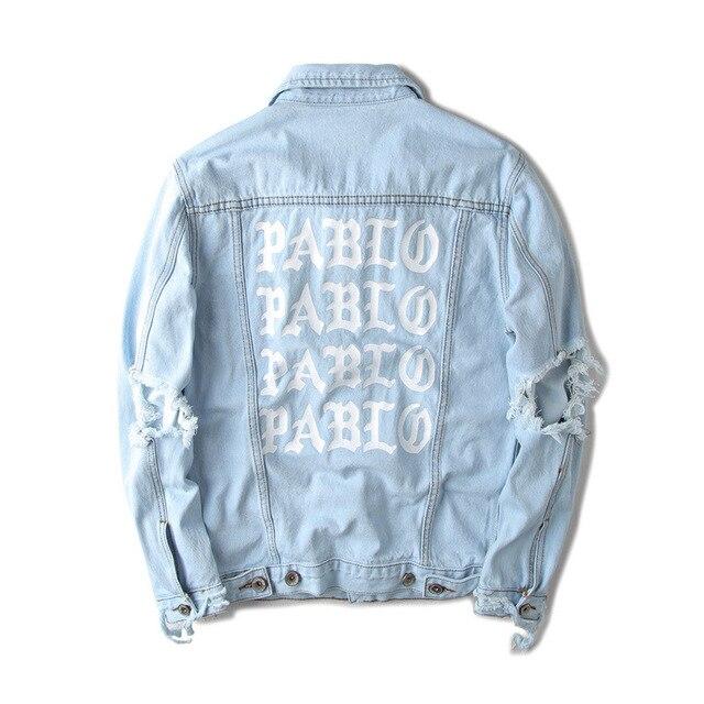 4443c3a76ee Top Quality Pablo Denim Jackets Men Hip Hop Brand Clothing Streetwear Jeans  Jackets I Feel Like