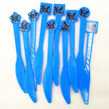 10pcs Batman Party Supplies Plastic Knives Christmas/Festival Kids Birthday Theme Superhero Party Decoration Baby Shower Favors(China)