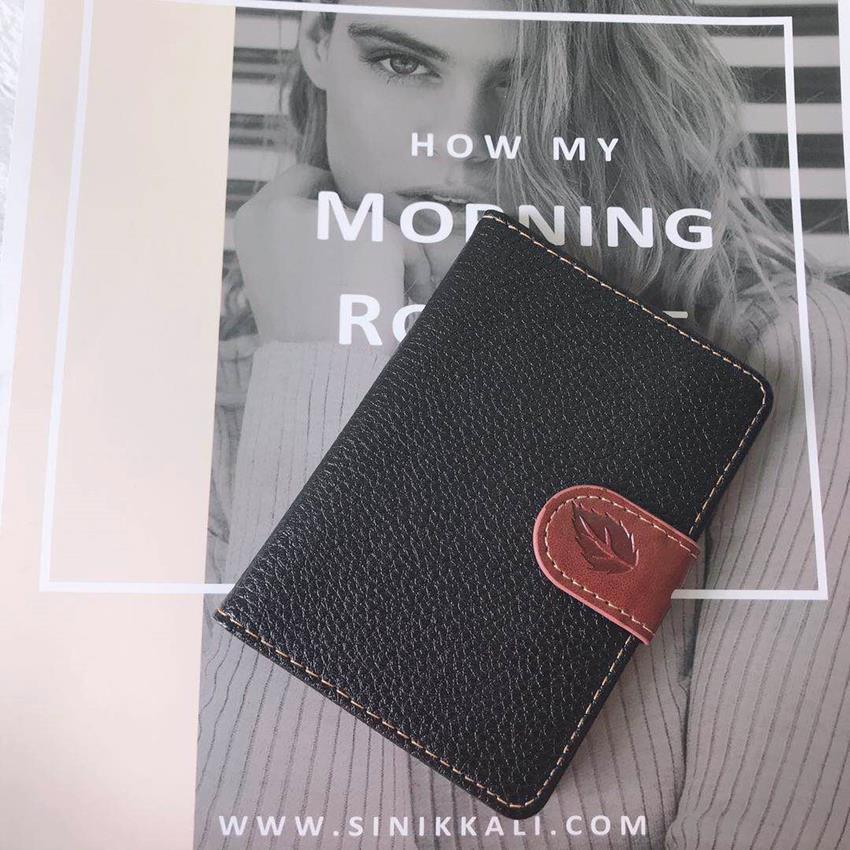 Fashion Leaf Print PU Leather Card Wallet Men Business Bank Card Holder Thin Credit Card Case Convenient Cards Pack Cash Pocket