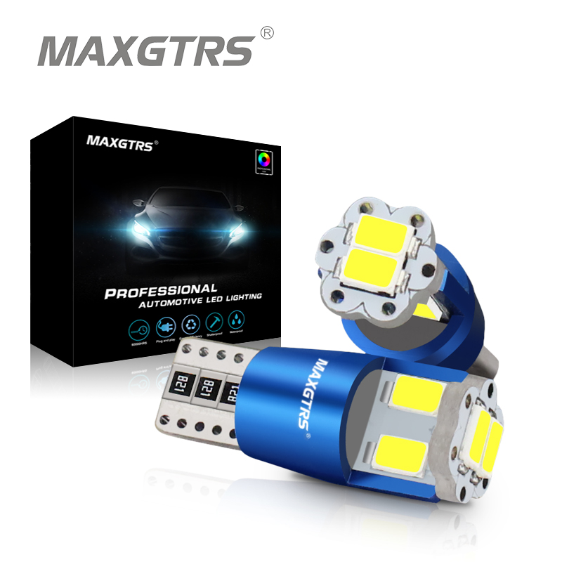 MAXGTRS T10 LED W5W Canbus LED Bulb 194 168 5730 DRL Car Auto Sidemarker Parking Width Interior Dome Light Reading Lamp 12V 2pcs 12v 31mm 36mm 39mm 41mm canbus led auto festoon light error free interior doom lamp car styling for volvo bmw audi benz