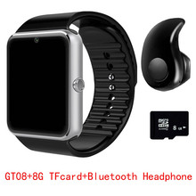 2017 Hot GT08 Conectividade Telefone Android Smartwatch Bluetooth Relógio Inteligente Sincronização do Relógio Notificador Sim Apoio TF Cartão PK DZ09 Q18