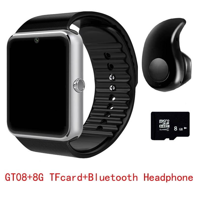 2017 heißer GT08 Bluetooth Smart Watch Sync Notifier Uhr Konnektivität Android Telefon Smartwatch Unterstützung Sim TF Karte PK DZ09 Q18