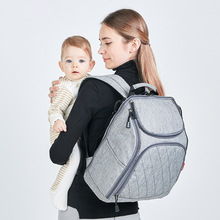 купить Fashion Mummy Maternity Nappy Bag Large Capacity Diaper Bag Travel Backpack Nursing Bag Baby Care Mother Waterproof Stroller Bag дешево