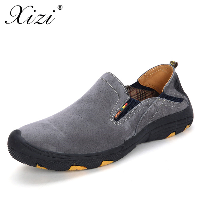 e823a6b469a2 XIZI Comfort Genuine Leather Casual Shoes Men Loafers Suede Men Winter Shoes  Breathable Outdoor Training oxford Walking Shoes