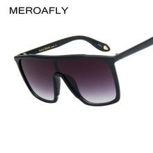 d861f761a6047 MEROAFLY Senhoras Preto Limpar Praça de Grandes Dimensões Óculos De Sol  Mulheres Gradiente Verão 2018 Estilo Clássico óculos de .