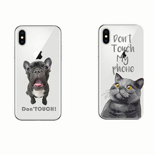Animal French Bulldog British Shorthair Cat Soft Silicon Cover Phone Cases for IPhone 11 PRO MAX 5S SE 7 8 Plus X 6 6S XR