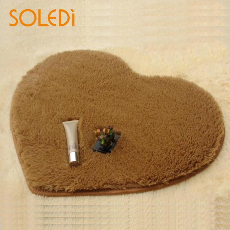 40x30cm Heart Shaped Nonslip Carpet Shower Floor Bathroom Bath Rug Tub Mat