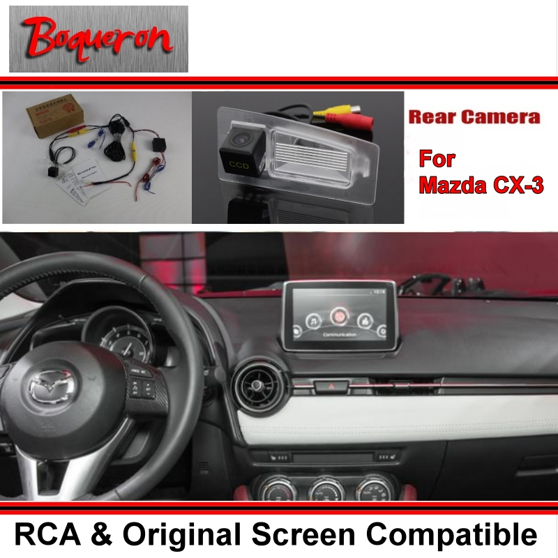 Car Rear View Camera / Back Up Reverse Camera Sets For Mazda CX-3 CX3 CX 3 / RCA & Original Screen Compatible for mazda cx 3 cx 3 cx3 2014 2015 smart tracks chip camera hd ccd intelligent dynamic parking car rear view camera