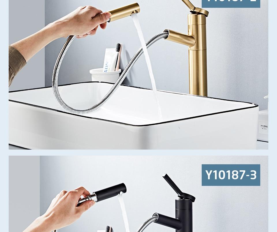 HTB1rn 4V5LaK1RjSZFxq6ymPFXaQ - FRAP Basin Faucet Pull Out Bathroom Sink Faucet Single Handle Waterfall Bathroom faucet
