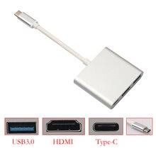 15 CM Tipo de C 3.1 Macho a USB $ number/HDMI/Tipo C Hembra Adaptador de Cargador para Macbook FW1S