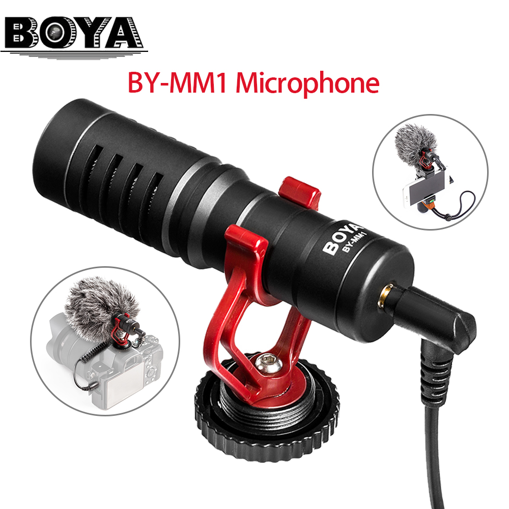 BOYA BY MM1 Cardiod Microphone For IOS 7 6 6s Phone And Android Smartphone Mac