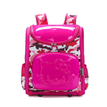 NEW kids Waterproof Camouflage Schoolbag Backpack EVA Folded Orthopedic Children School Bags For Boys and girls