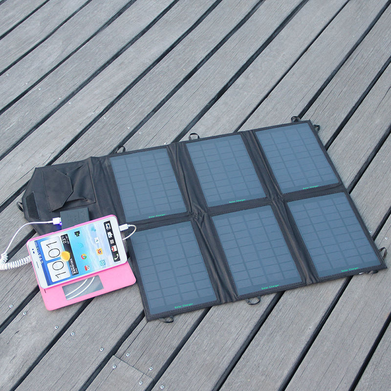 Factory directly selling new 21W folding solar panel for Ipad/Iphone solar phone charger for any 5V devices usb solar charger