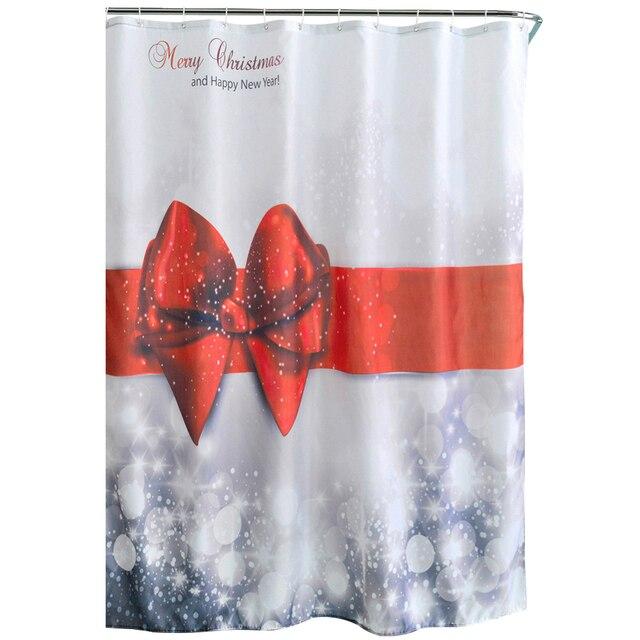 Practical Boutique Cute Christmas Design Bathroom Shower Curtains ...
