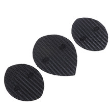 1pair Black Mens Self-Adhesive DIY Stick On Shoes Sole Anti-Slip Hard-Wearing Mat Soles Pads Sticker for kitchen(China)