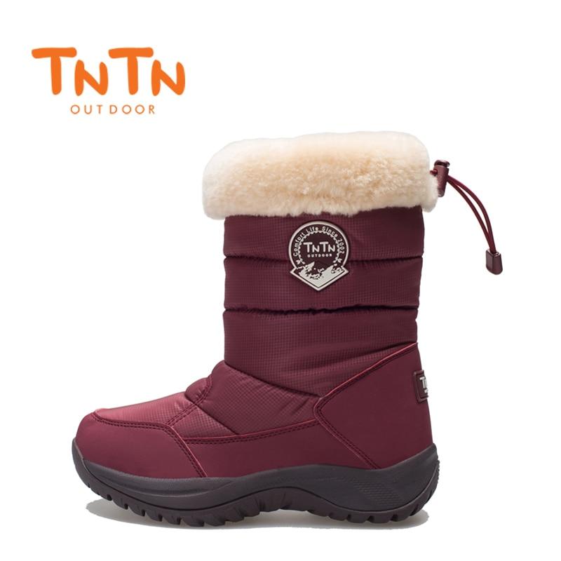 2018 TnTn Winter Women Snow Boots Waterproof Hiking Shoes Women Breathable Outdoor Sneakers Waterproof Hiking Boots Woman