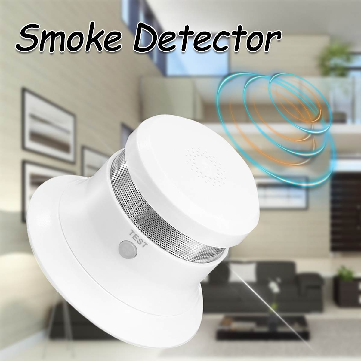 Portable Wireless Smoke Alarm Detector Sensor Hoisting Mounted Wall Mounted For Fires Sound Alarm Home Security Alarm System