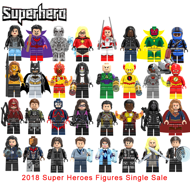 Single Sale Super Heroes Vision Luke Cage Whiplash Firestorm Cheetah Mockingbird Grand Ward Melinda May Building Block Toy ...