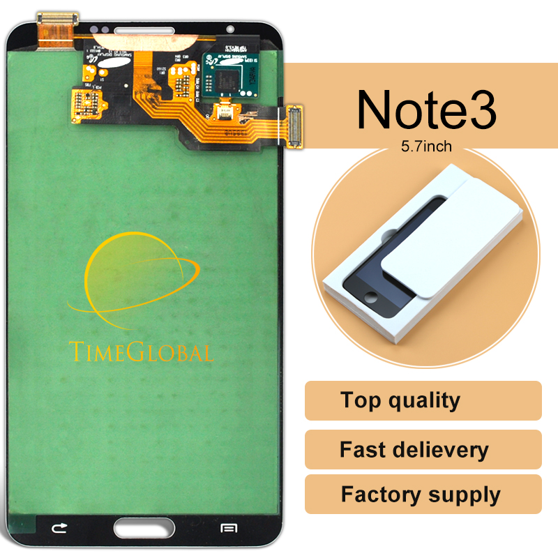 10PCS 100% Original For Samsung Galaxy Note 3 N9005 LCD Screen Replacement Digitizer Assembly free dhl