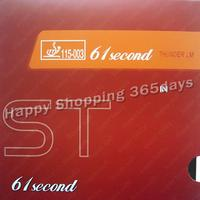 Free Shipping 61second LM ST Black Pips In Table Tennis Red Rubber With Sponge