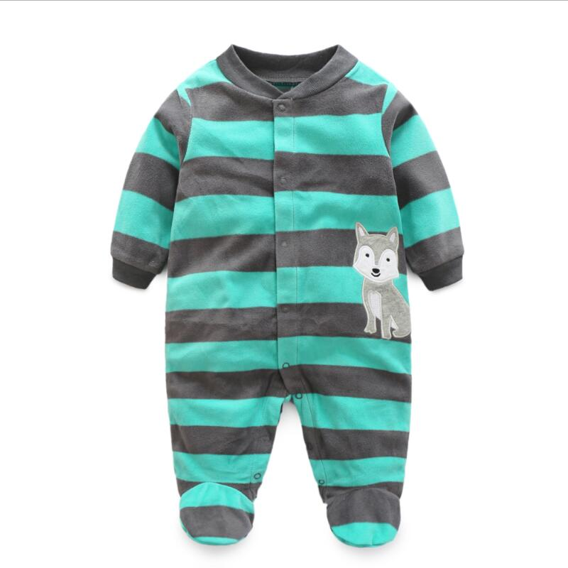Newborn 12M baby boys 2018 spring baby Rompers soft Baby Boys romper warm fleece Baby Jumpsuit for kids boys Costumes paul frank baby boys supper julius fleece hoodie