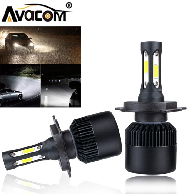 Avacom 2 Pieces H11 H1 H7 H8 H9 LED Turbo Fan Car Fog Bulb 6500K White 8000Lm 12V 24V H8 HB3 HB4 LED Fog Lights For Auto