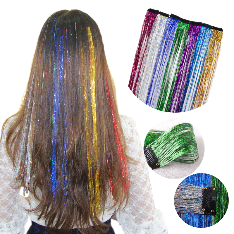 1pc Fashion Women Wig Synthetic Hair Extensions Laser Blond Bands