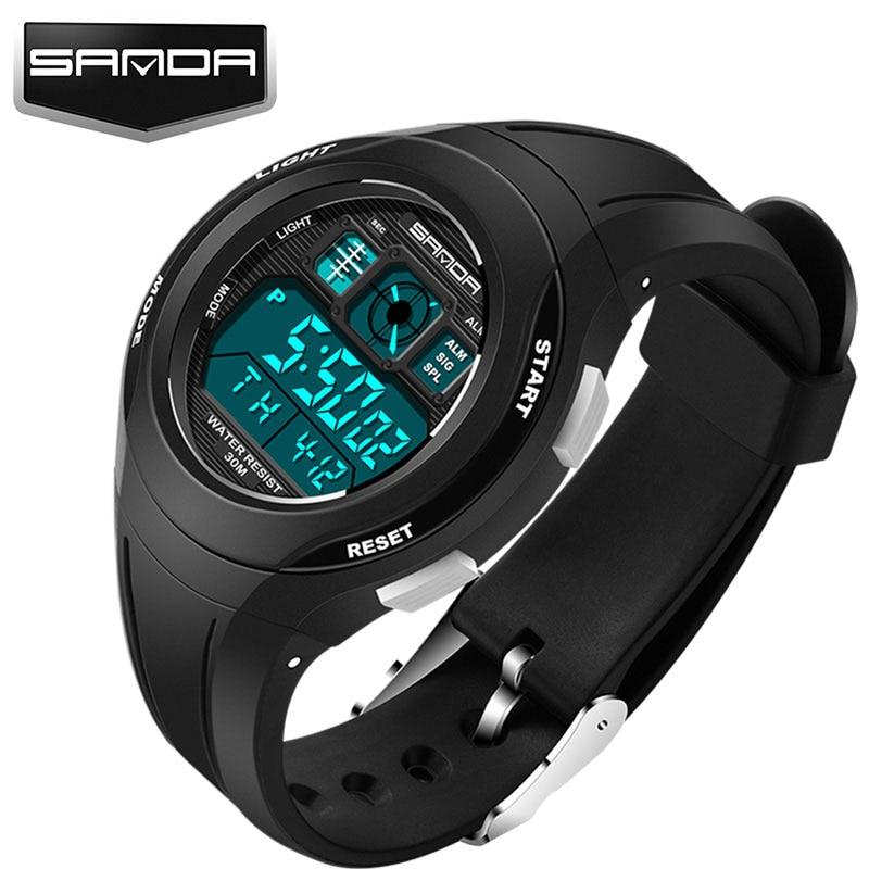 SANDA Top LED Digital Children Watch Kids Watches Girls Boys Clock Child Sport Wrist Watch