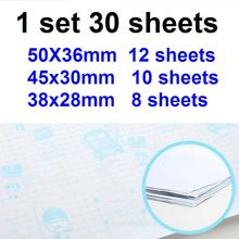 30Sheets/Set 3 Sizes A4 16K 32K Transparent Sticky Book Cover CPP Book Wrap Film Book