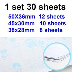 30Sheets/Set 3 Sizes A4 16K 32K Transparent Sticky Book Cover CPP Book Wrap Film Book Protector School Students Stationery 8658