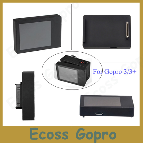 Suptig for gopro Hero 4 3+ 3 LCD BacPac display screen for Accessories Gopro hero3 Hero 3+ Hero 4 Lcd screen h020 universal 1 4 screw helmet mount holder for dv suptig gopro hero 4 2 3 3 black page 2