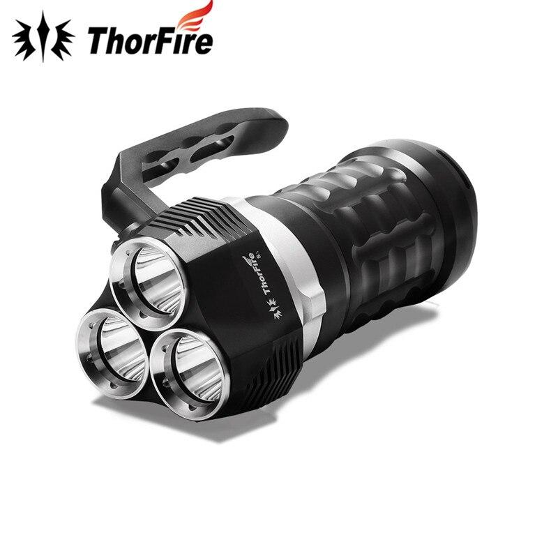 ThorFire TD34 2000 Lumens 3 modes 3 x XPL LED Diving Flashlight Dive light Waterproof Searchlight Underwater 70m 18650 Torch golf 3 td 2011