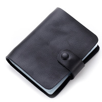 New Fashion Genuine Leather Men Women Card Holder Wallet Soft High Quality Business Card Package 60