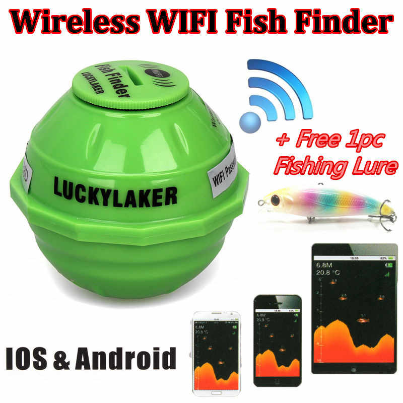 FF916 Wireless WiFi Fish Finder Sonar Findfish Detect Device Best Deeper Echo Sounder Bite Alarm for Depth Fishing IOS Android