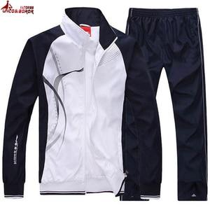 UNCO و BOROR النساء الرجال الرياضية دعوى الخريف جاكت للربيع الرجال مجموعة رياضية أبلى العلامة التجارية الملابس رجل sportsuit هوديس + بانت