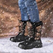 Times/Новинка; Мужские ботинки в римском стиле; камуфляжные зимние ботинки для мужчин; толстая плюшевая Водонепроницаемая зимняя обувь на шнуровке; большие размеры 40-46