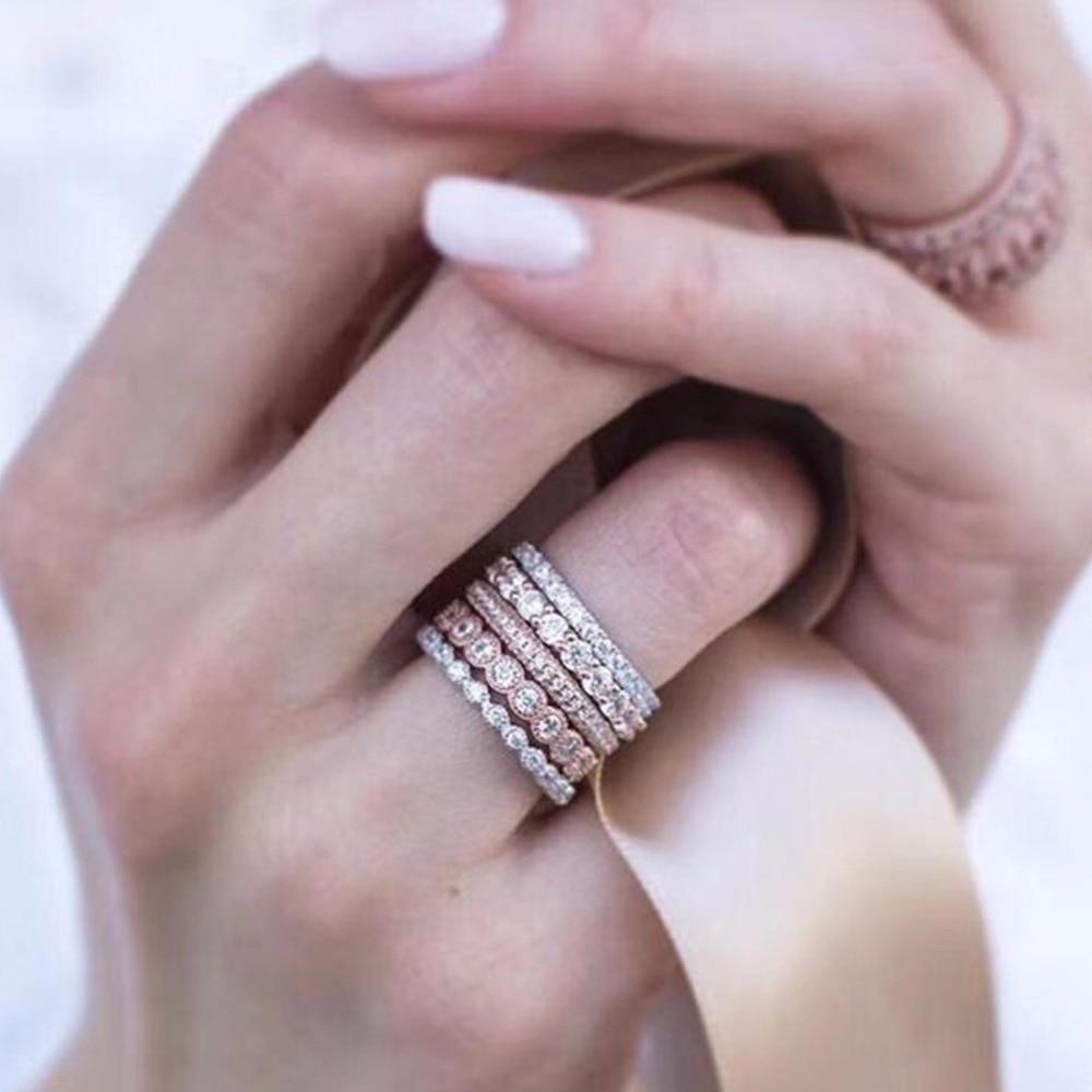 Korean Crystal Rhinestone Ring Knuckle Midi Finger