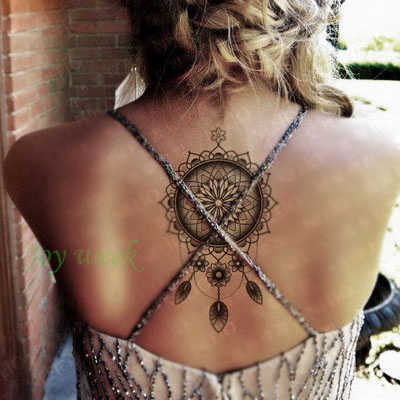 Waterproof Temporary Tattoo sticker body art dreamcatcher dream catcher tatto stickers flash tatoo fake tattoos for girl women 7