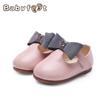 2017 Summer New Babyfeet Baby Girl Moccasins First Walkers Soft  Anti-slip Sole Wear-resisting Cute Bownot Toddle Princess Shoes