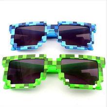 Creeper My World Glasses Pixel Women Men Sunglasses Female Male Mosaic 5dpi Sun Glasses Boys Children Novelty