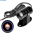 Motorcycle LED Headlight 3D Ghost Rider Flaming Skull Logo Laser Projector Spotlight Shadow LED Logo Light