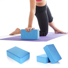 Hot Sale Blue 23*15*7.5cm Yoga Block Brick Foaming Foam Home Exercise Practice Fitness Health Gym Practice Tool Anti-static EVA