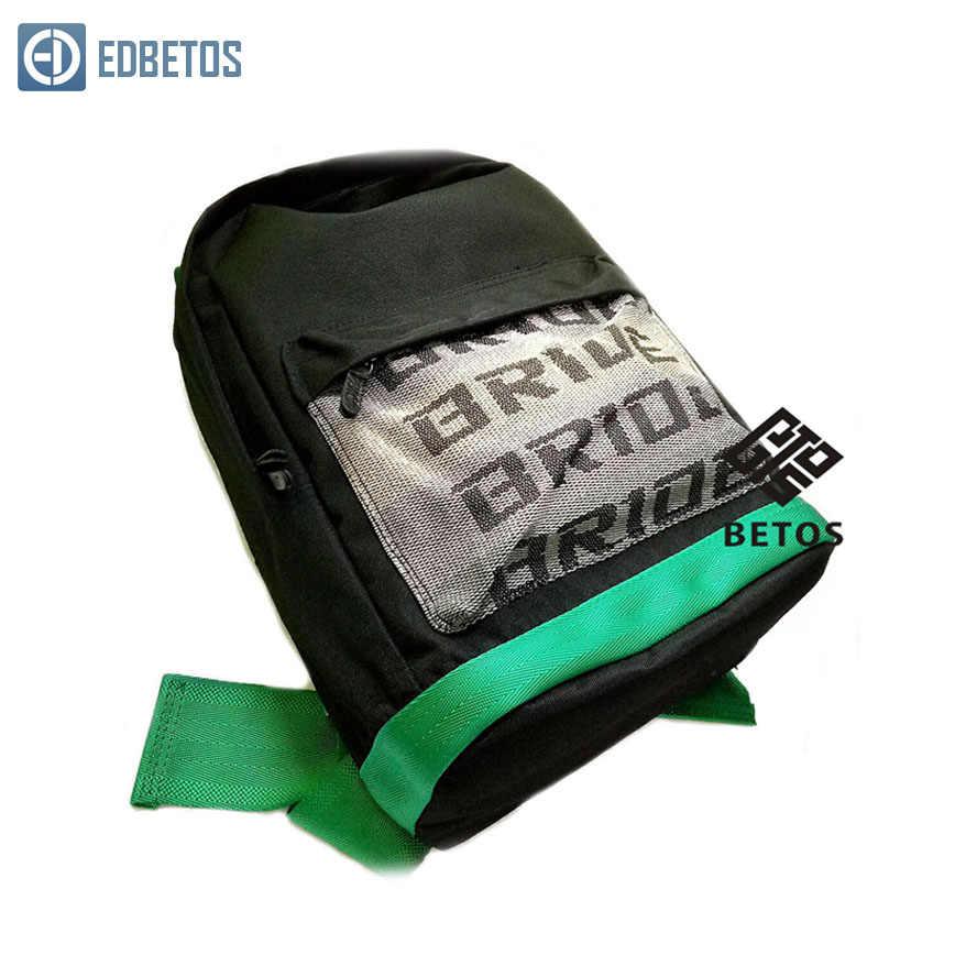 Para jdm estilo de corrida tecido correias estilo escola mochila lona do carro mochila noiva corrida correias mochila carteira caso chave