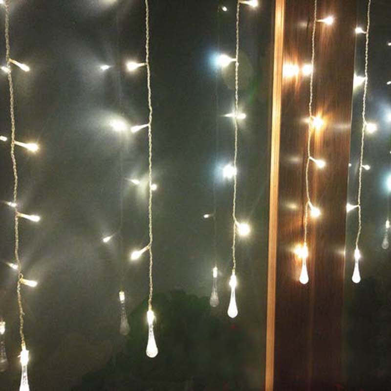 cheap for discount 4a2c5 b13d7 US $9.64 12% OFF|1.5x0.5M 10 Bubble Water Droplets LED String Fairy Lights  Christmas Wedding Lamps Garlands Luces De Navidad Para Exterior-in LED ...