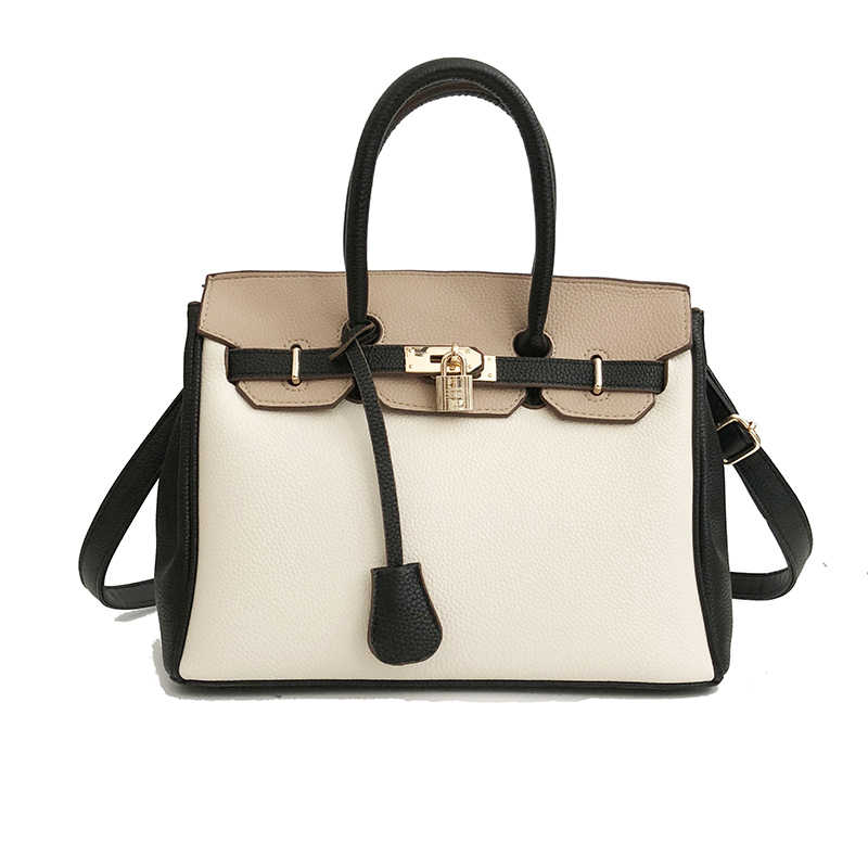 78405633ef Brand Luxury Lock design Women Handbags Fashion Women PU Leather Shoulder  Bag Famous Brands Ladies Tote