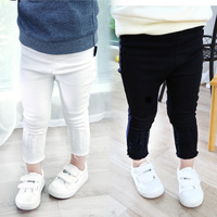 Age 1-4Y New Arrival 2017 Spring Autumn Black Baby Girls Pencil Pants Kids Girl Leggings White Pants Children Trousers Clothes