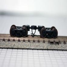 2 шт N масштаб Bogie моделирование поезд модель игрушки аксессуары 1/150 модель поезда колеса
